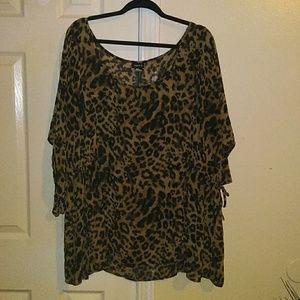 Torrid Leopard Blouse. Size 5.